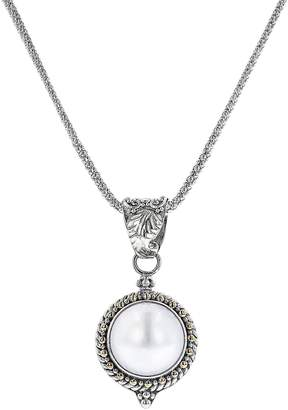 Artisan Crafted Silver/18K Mabe Pearl Pendant