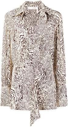 Chloé printed ruffle blouse