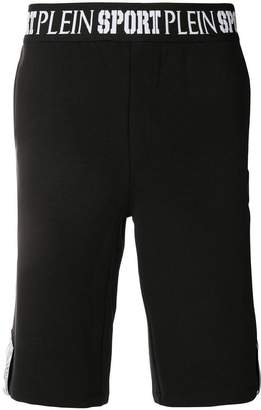 Plein Sport logo waistband shorts