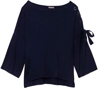Vince Camuto Laced-sleeve Sweater
