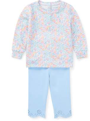 Ralph Lauren Floral Pullover & Legging Set