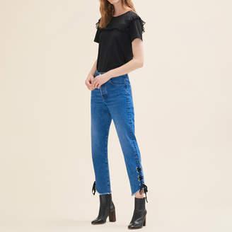 Maje Boyfriend-cut cropped jeans