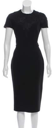 Victoria Beckham Lace-Accented Midi Dress Black Lace-Accented Midi Dress