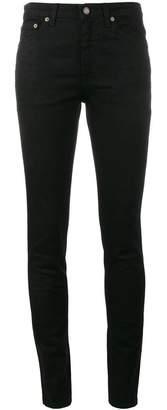 Saint Laurent classic black mid rise skinny jeans