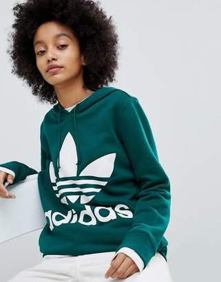 adidas adicolor Trefoil Hoodie In Green