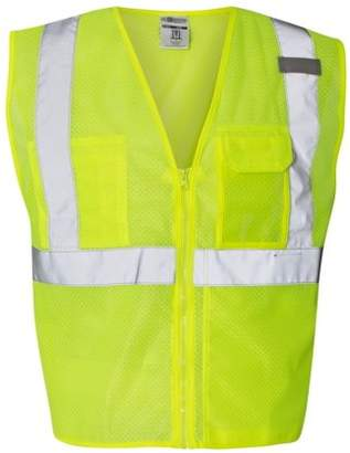 clear ML Kishigo ID Vest with Zipper Closure - 1532-1533