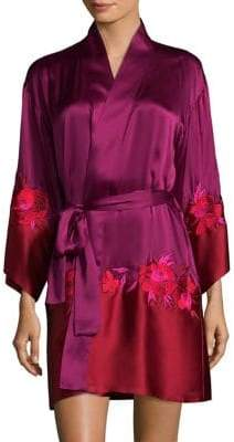 Natori Isabel Silk Wrap Robe