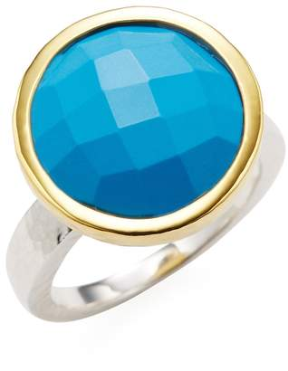 Gurhan Women's Silver, Gold & Turquoise Cocktail Ring