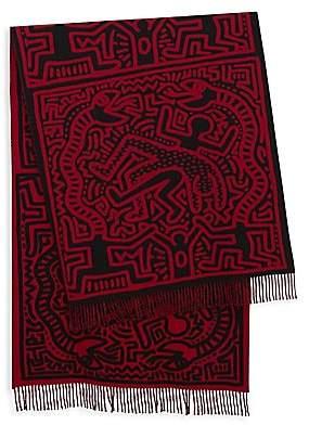 Études Men's x Keith Haring Wool Scarf