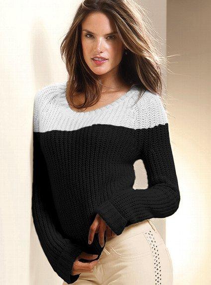 Victoria's Secret Colorblock Boyfriend Sweater