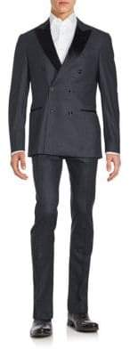 Brunello Cucinelli Double-Breasted Wool-Blend Suit