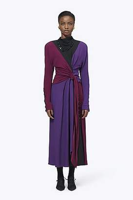 CONTEMPORARY Satin Back Crepe Wrap Dress