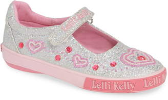 d0b79b01e4f Lelli Kelly Kids Beaded Heart Glitter Mary Jane Sneaker