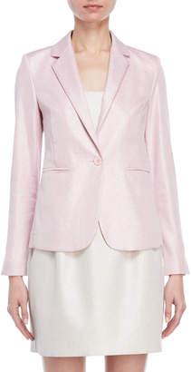 Atos Lombardini Pink Shimmer Single Button Blazer