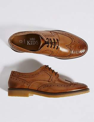 Marks and Spencer Kids' Leather Brogue Shoes (13 Small - 7 Large)