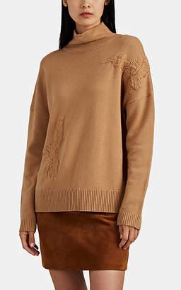 Altuzarra Women's Bromley Embroidered Wool-Cashmere Sweater - Beige