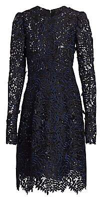 J. Mendel Women's Leaf Appliqué Cocktail Dress