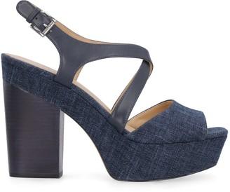 Michael Kors Denim Sandals With Heel