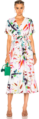 Mara Hoffman Midi Wrap Dress $425 thestylecure.com