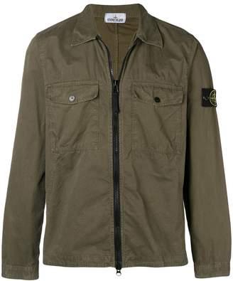 Stone Island shirt-style zip jacket