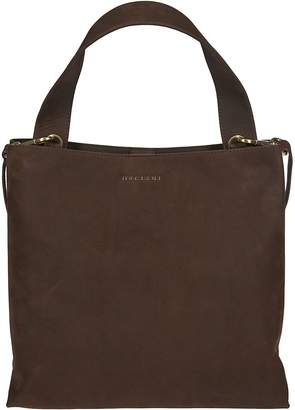 Orciani Logo Top Handle Tote
