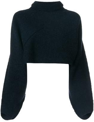 Victoria Beckham chunky knit cropped turtleneck jumper