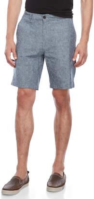 Natural Blue By Visitor Blue Linen-Blend Shorts