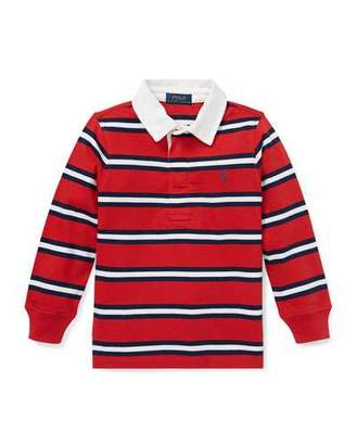 Ralph Lauren Long-Sleeve Striped Rugby Top, Size 2-4