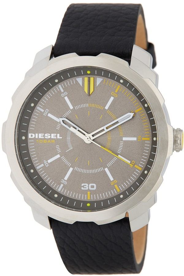 Diesel Diesel Men's Machinus Leather Strap Watch