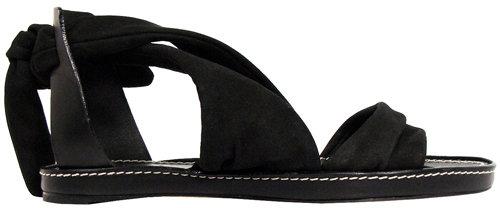 Chloé Flat Tie-back Sandal In Black