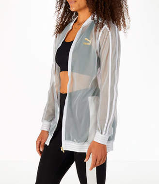 Puma Women's Exposed Mesh Fashion T7 Track Jacket