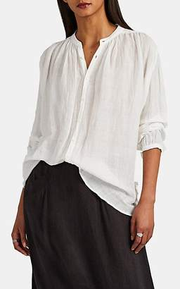 Pas De Calais Women's Bamboo-Cotton Gauze Button-Front Blouse - White
