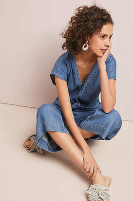 Splendid Bow-Tied Chambray Jumpsuit