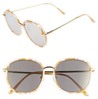 Women's Gentle Monster Mad Crush 57Mm Round Sunglasses - Orange Mirror $260 thestylecure.com
