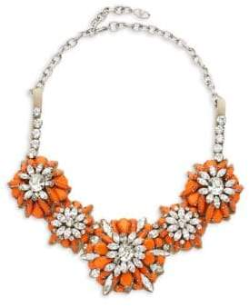 Valentino Orange Carnelian Floral Statement Necklace