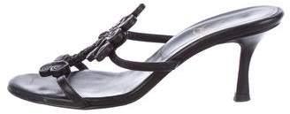 Christian Louboutin Leather Slide Sandals