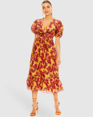 Talulah Red Sea Midi Dress