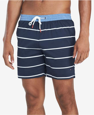 "Tommy Hilfiger Men Biscayne Stripe 6.5"" Swim Trunks"