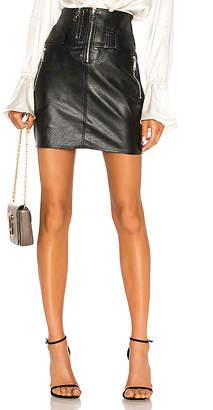 Divine Heritage Vegan Leather Moto Skirt