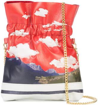 Undercover print drawstring shoulder bag