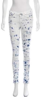 Rag & Bone Bleached Mid-Rise Skinny Jeans