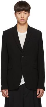 Rick Owens Black Wool Long Soft Blazer