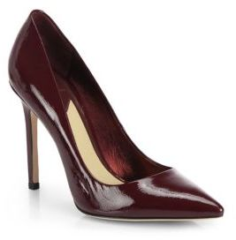 Brian Atwood Naina Patent Point-Toe Pumps