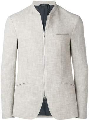 Giorgio Armani zipped fitted blazer