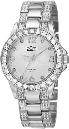 Burgi Women's Metal Diamond Watch