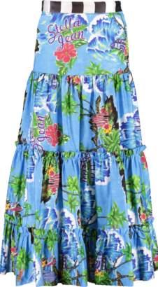 Stella Jean Tropical Print Drop Waist Skirt