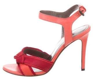 Lanvin Grosgrain & Leather Sandals