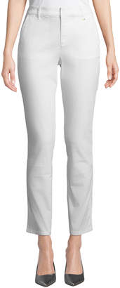 Donna Karan Straight-Leg Stretch Twill Pants