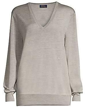 Polo Ralph Lauren Women's Long-Sleeve Wool, Silk & Cashmere Sweater