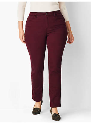 Talbots Plus Size Comfort Stretch High-Rise Straight-Leg Jeans - Merlot